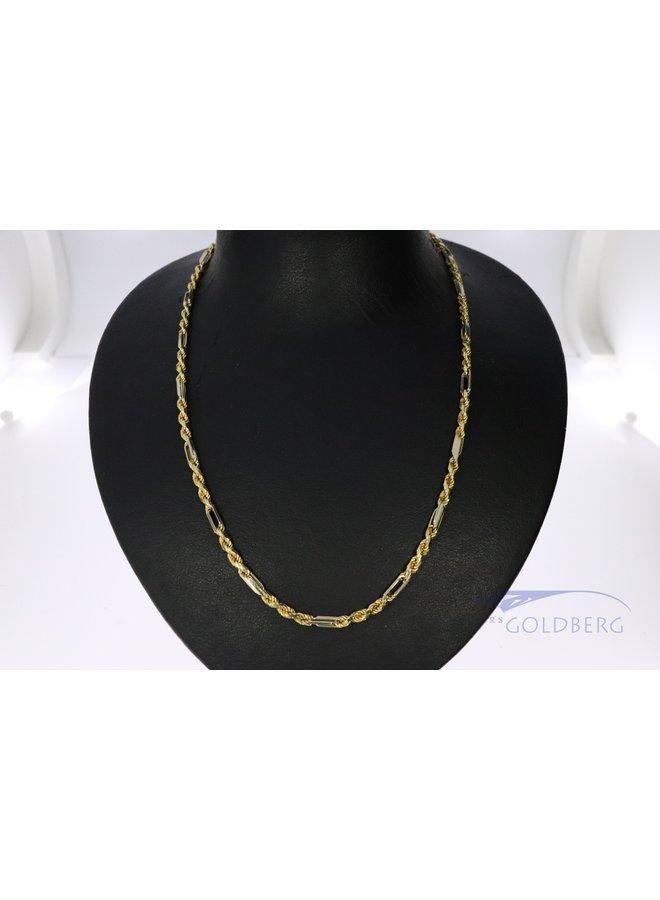 14k bi-color cool fantasy necklace