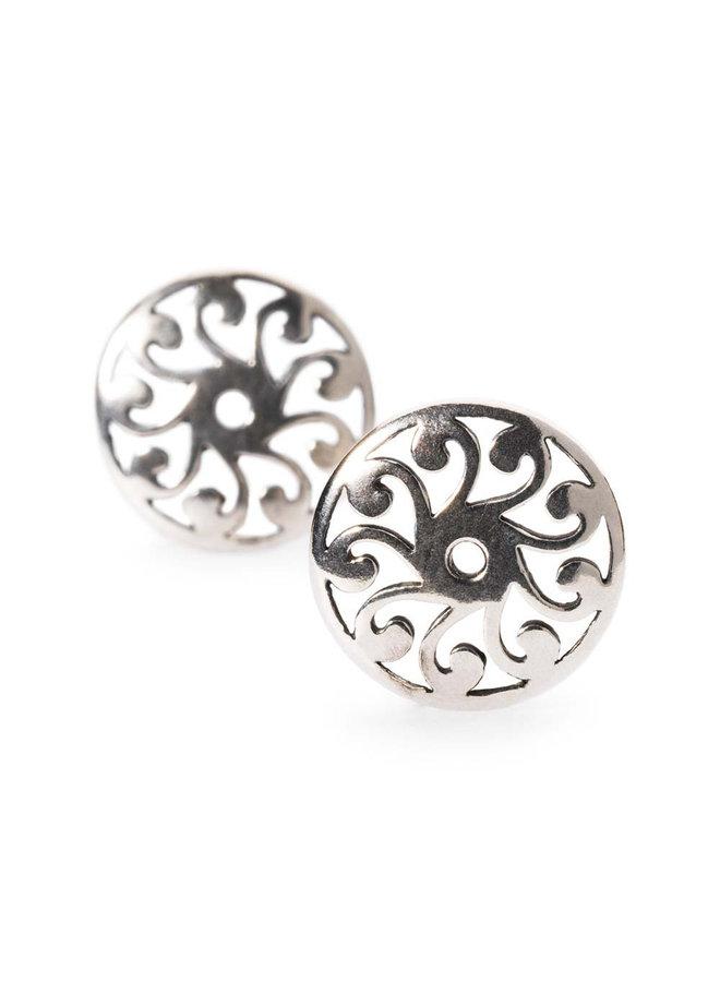 Trollbeads silver earring daylight