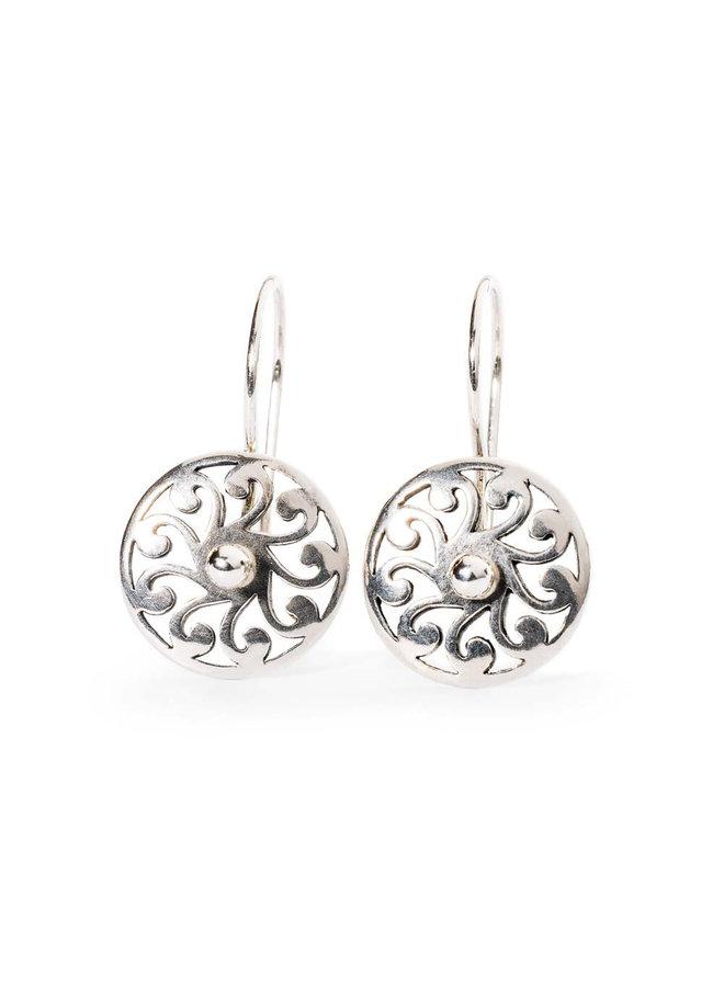 Trollbeads zilveren oorhanger daglicht