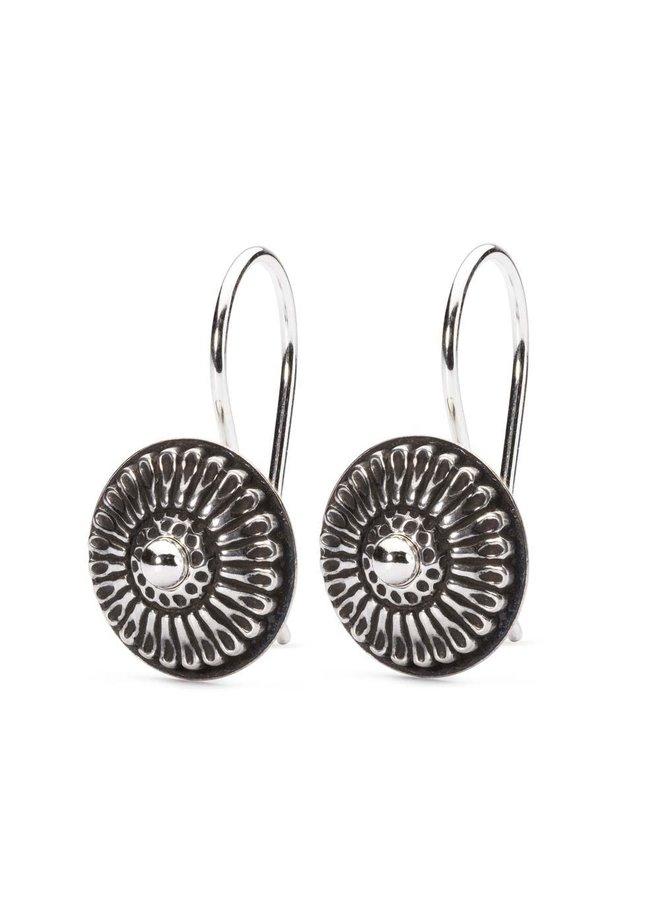 Trollbeads silver earrings Daisy donut
