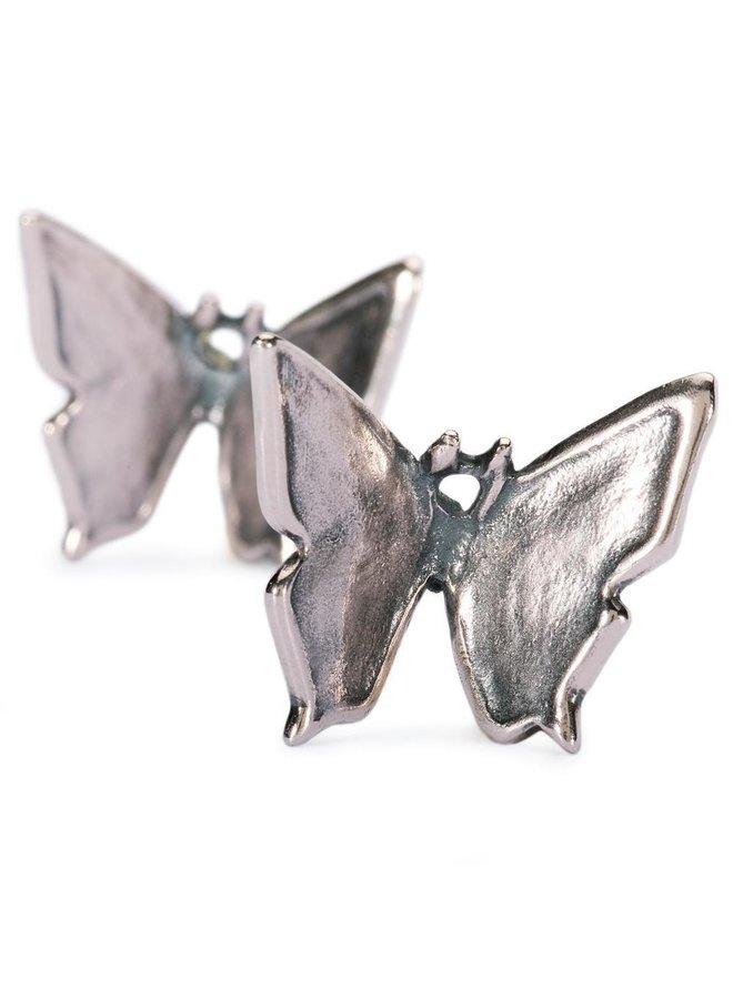 Trollbeads zilveren oorhanger Vlinder