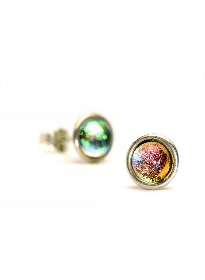 Trollbeads silver earrings Big Iris