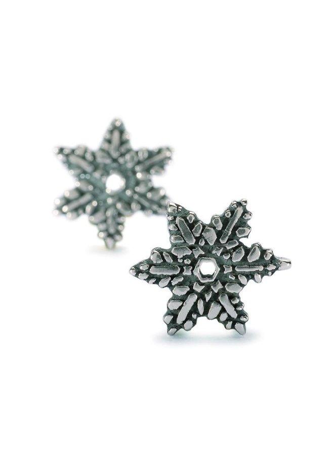 Trollbeads silver earrings Snow Flower