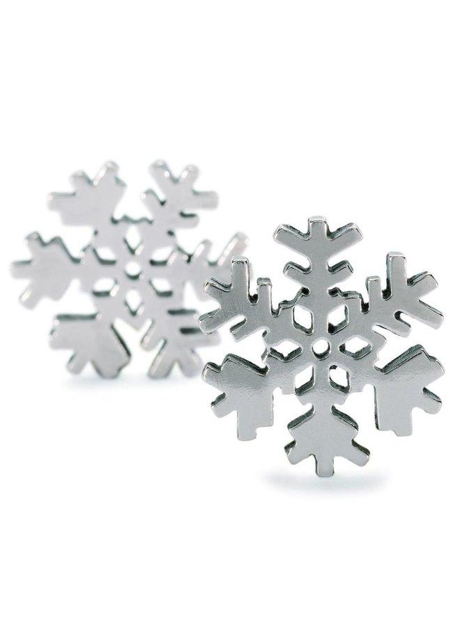 Trollbeads silver earrings Snowflake