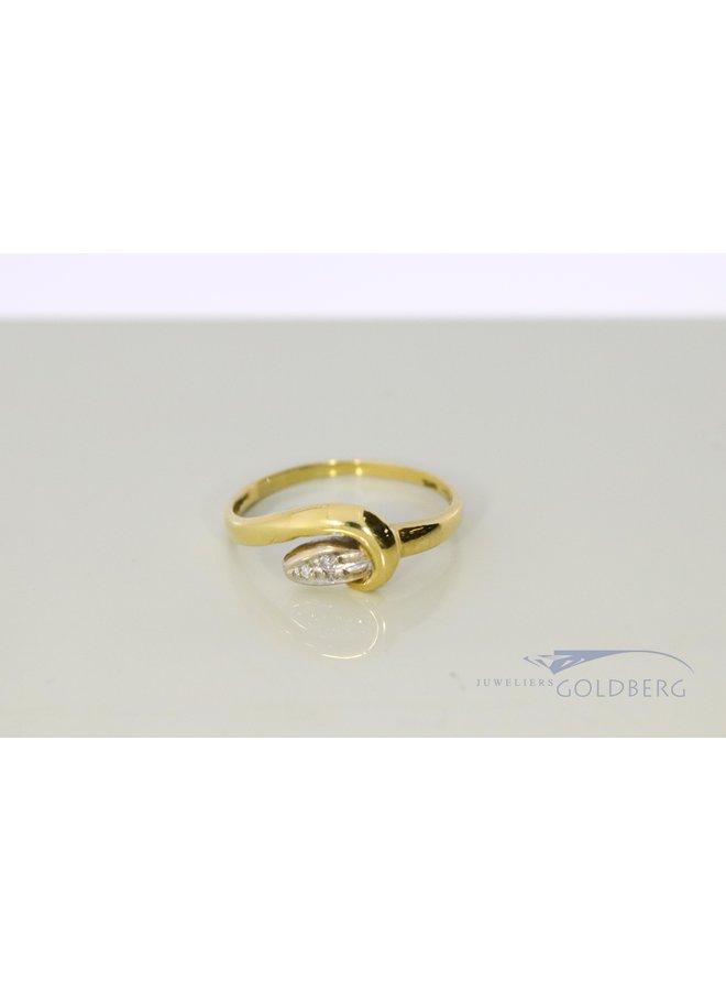 "18k vintage ""snake ring"" with diamond"