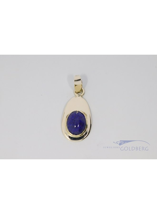14k gouden hanger met lapis lazuli