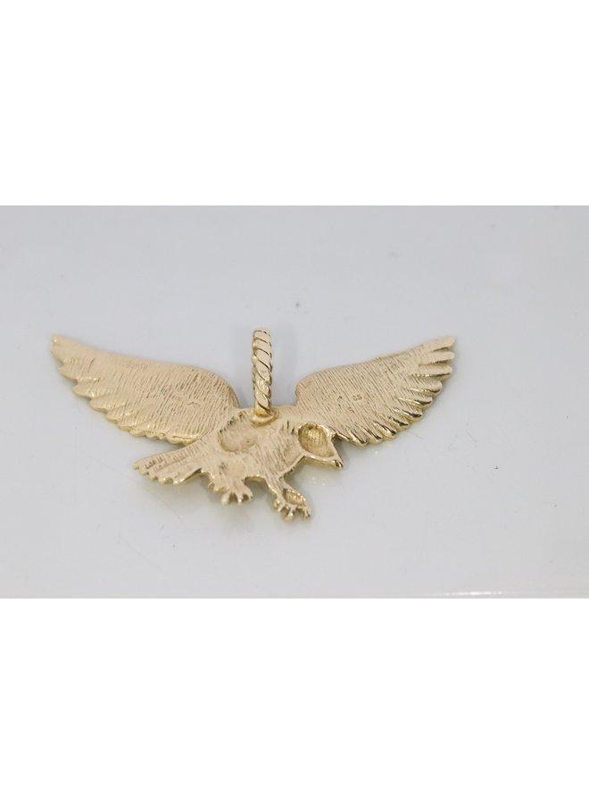 gold eagle solid 14k pendant