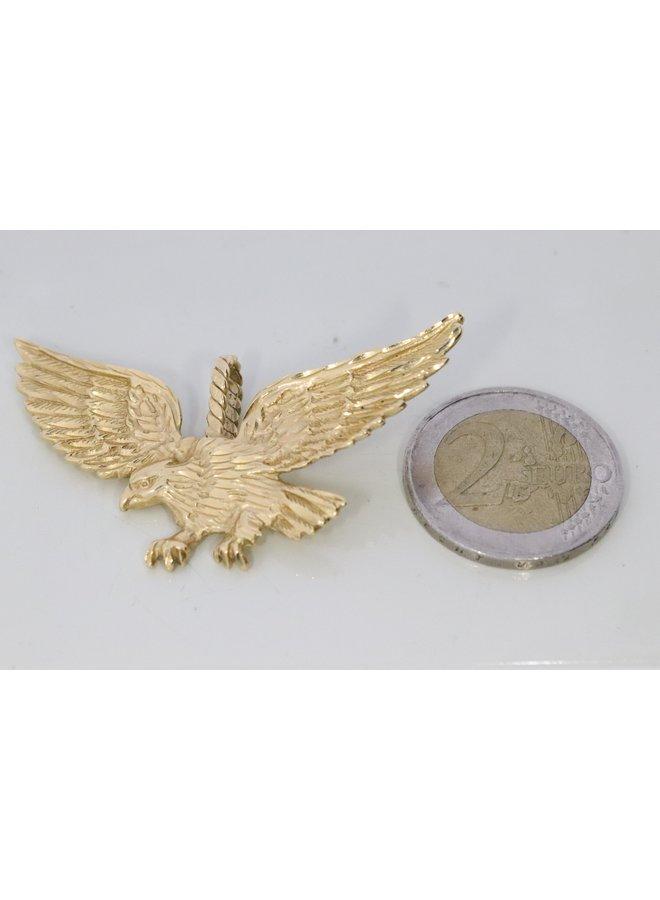 gouden adelaar massieve  14k hanger