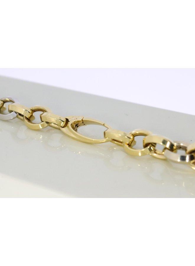 14k bi-colour jasseron necklace