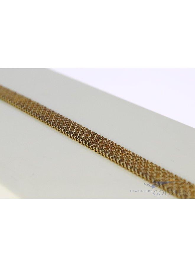 14k gold flat necklace