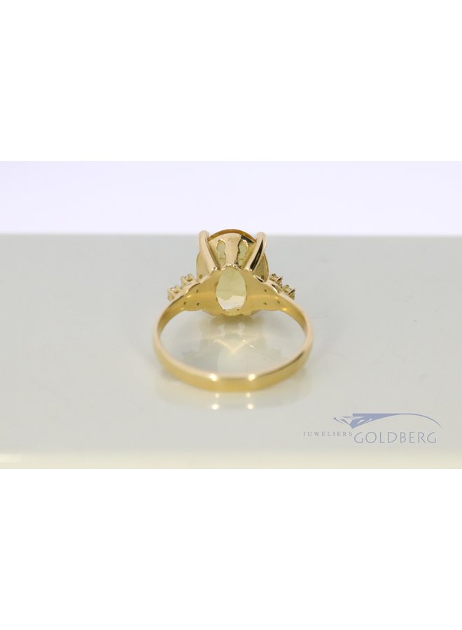 own design ring with citrine and diamond