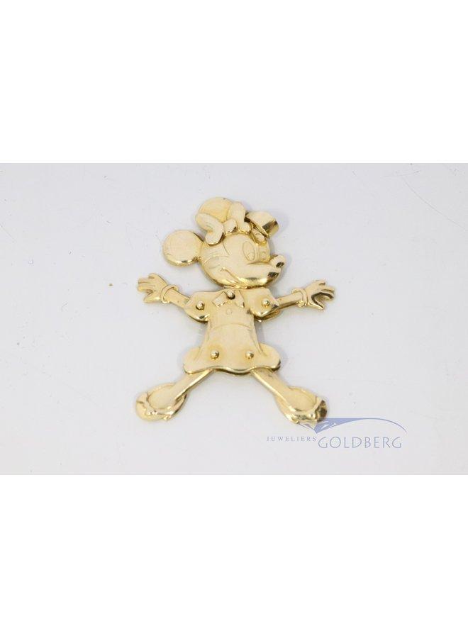 vintage 18k gouden Mini Mouse hanger