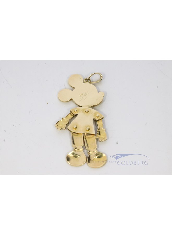 Vintage 18k gouden Micky Mouse hanger