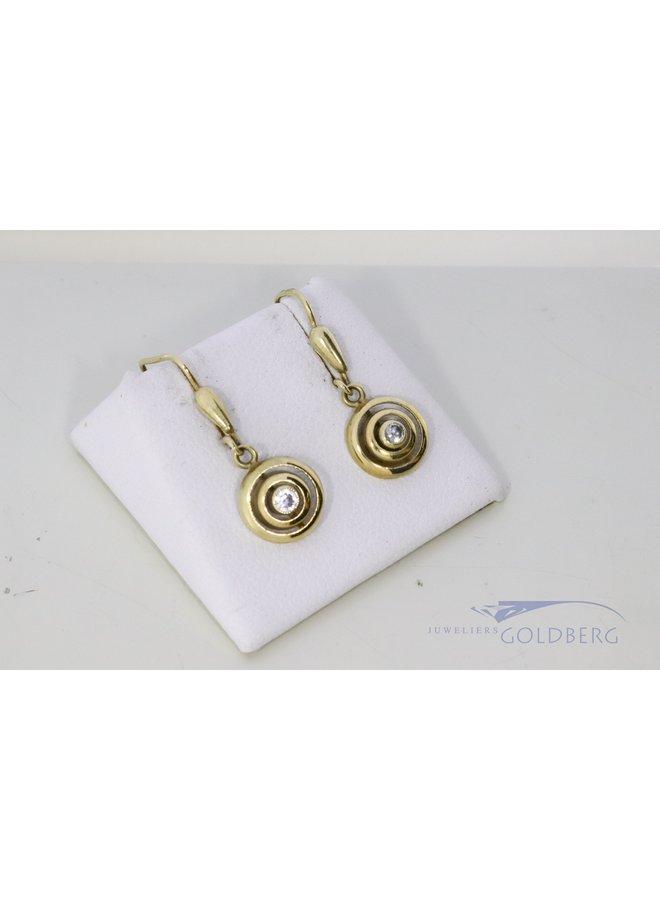 14k earrings with zirconia