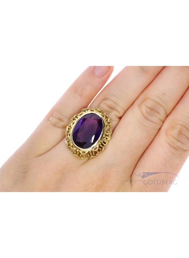 vintage 14k amethyst ring