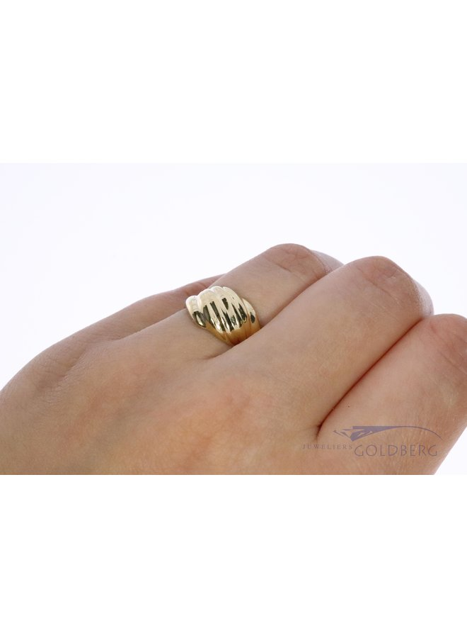 "14k gold ""wave"" ring"
