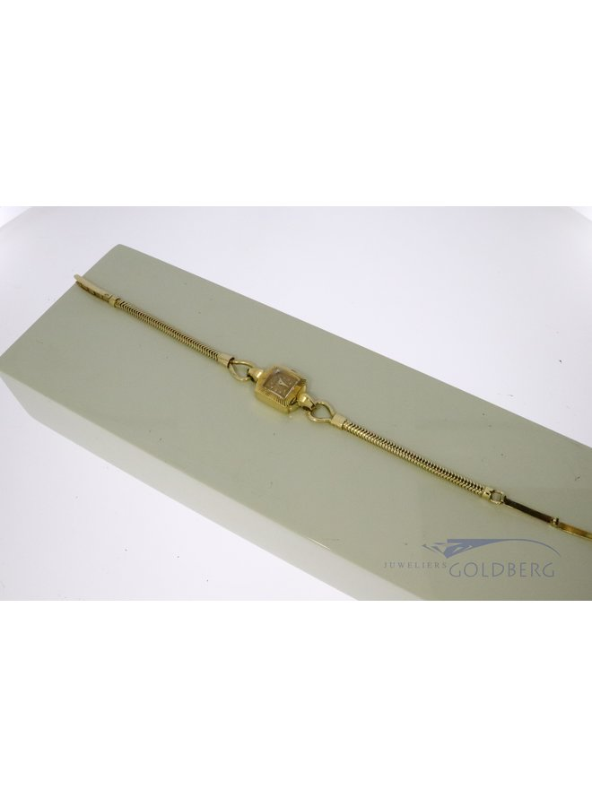 Omega 14/18 kt gold ladies watch