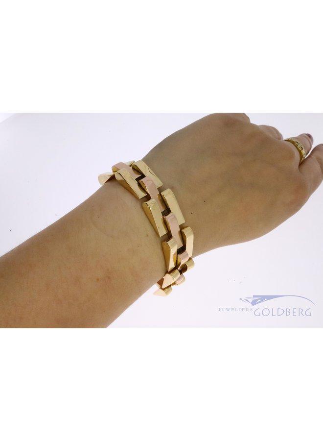 18 kt gold link bracelet ca. 1920 France
