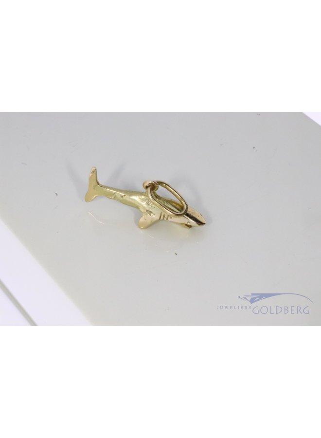 14k gold little shark