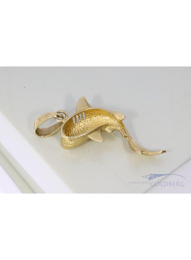 14k gold big shark