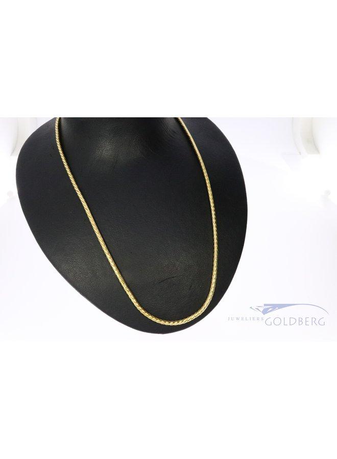 14k gouden zware vossenstaart collier