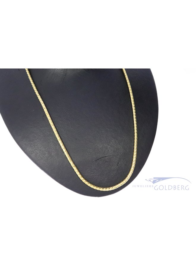 14k gold heavy foxtail necklace