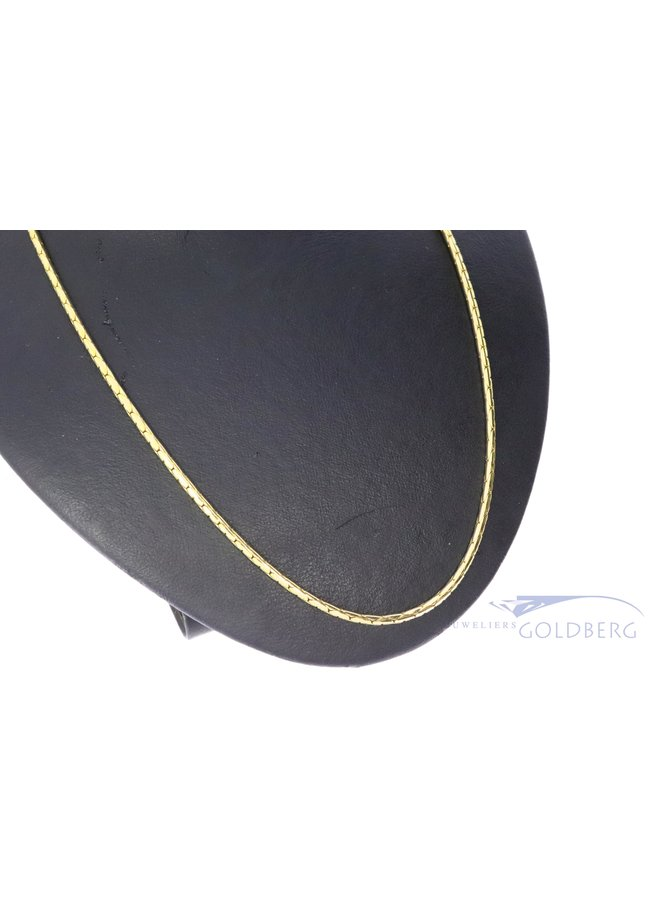 vintage 14k gold foxtail necklace