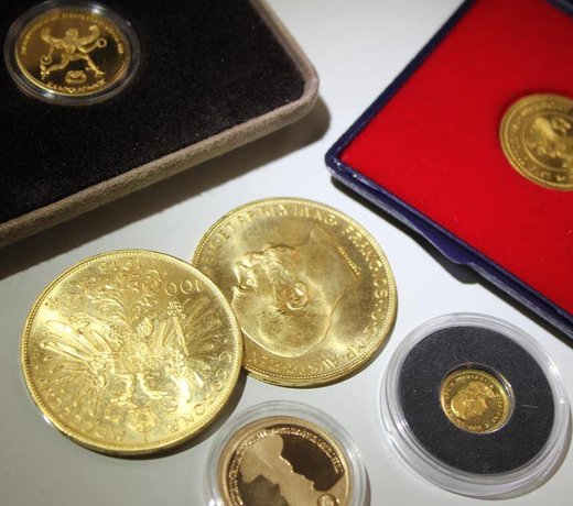 Golden coins and rounds