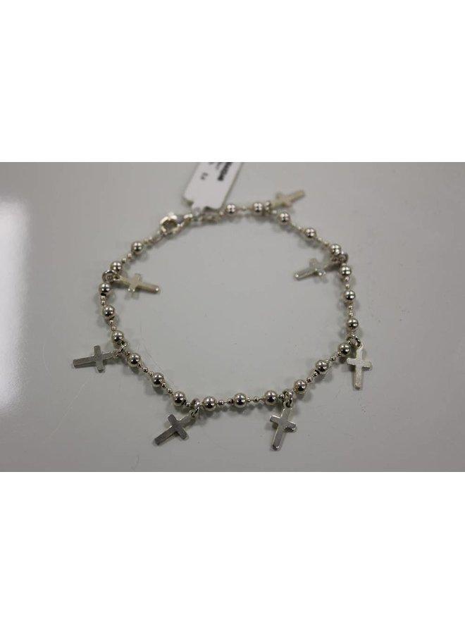 zilveren armband met kruisjes