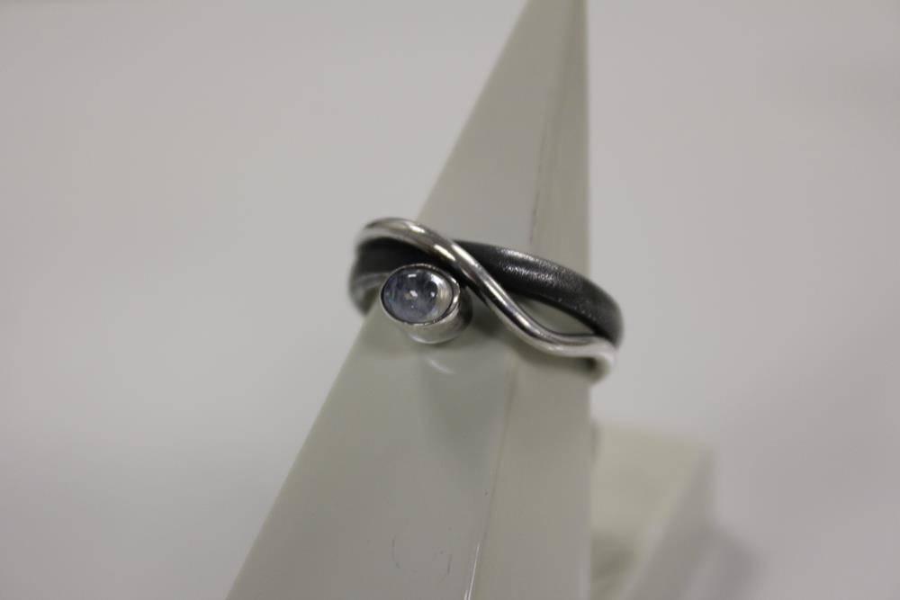 Rabinovich Zilver met maansteen ring