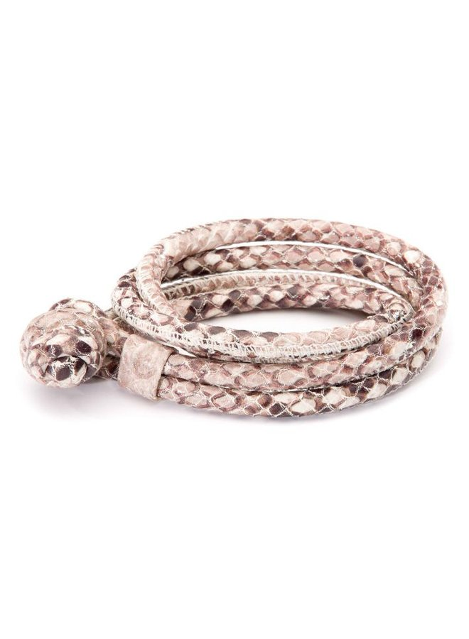 Joy de la Luz JB111rr leather knot king python medium