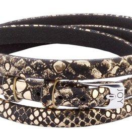 Joy de la Luz Joy de la Luz JB544 buckle black/gold python