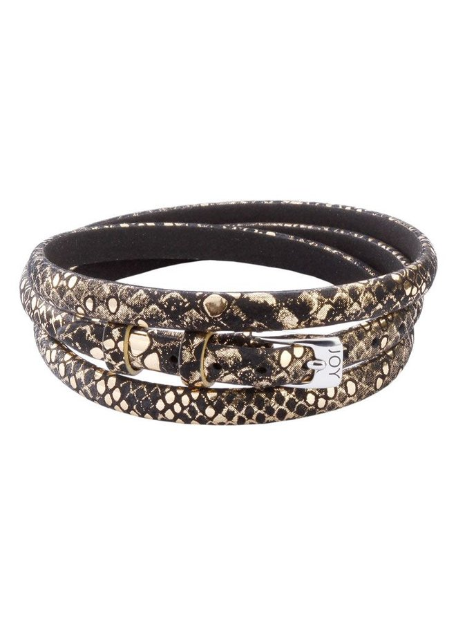 Joy de la Luz JB544 buckle black/gold python