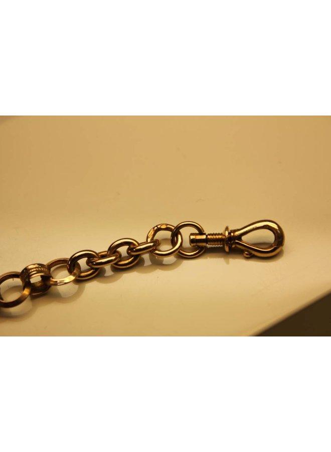 14 carat gold antique Dutch pocket watch chain 1865-1905