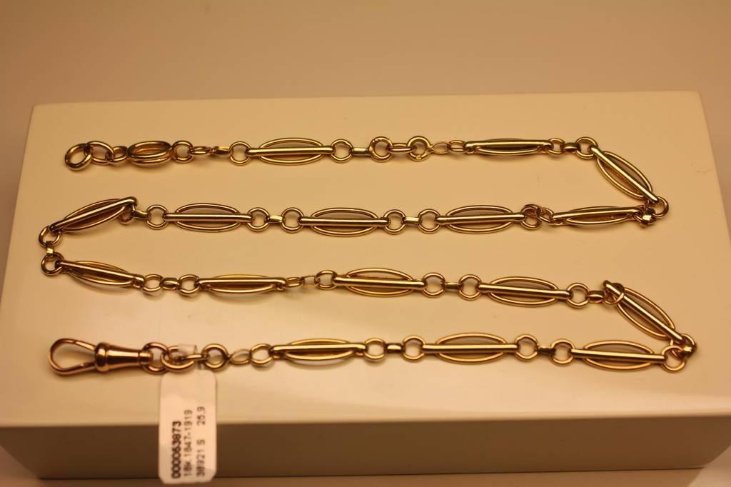 18k gouden antieke horlogeketting Frankrijk1847-1919