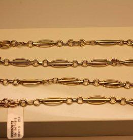 18k gouden antieke horlogeketting Frankrijk 1847-1919