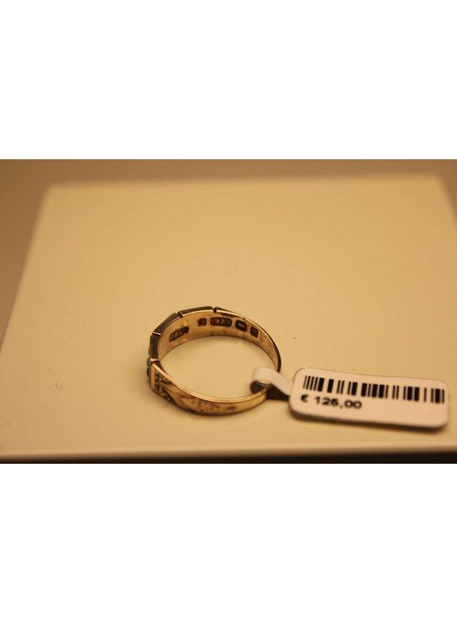 9k antieke ring Birmingham Engeland 1878