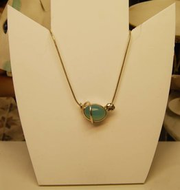Rabinovich Rabinovich silver necklace with calcedon