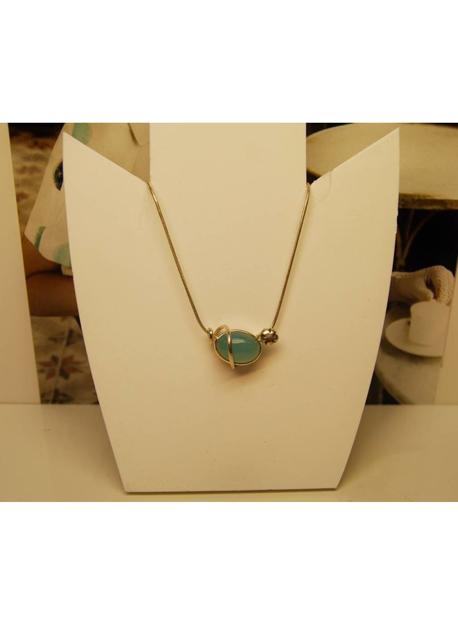Rabinovich silver necklace with calcedon