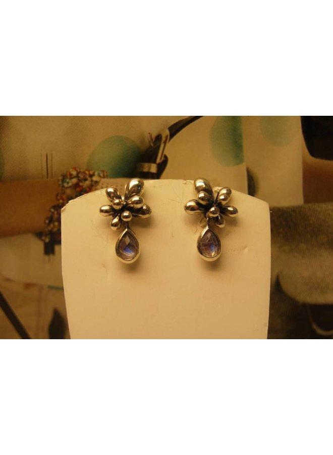 Silver Earrings Moonstone