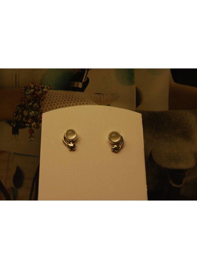 Silver Earrings Chalcedony