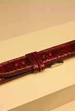 Handgemaakte horlogeband zeewolf rood 18mm