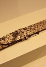 Handgemaakte horlogeband pythonleer naturel 18/16mm