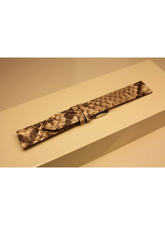 Handmade watch band python leather 18/16mm