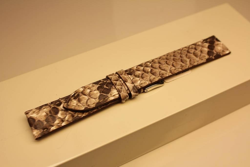 Handmade watch band python leather 18/16mm