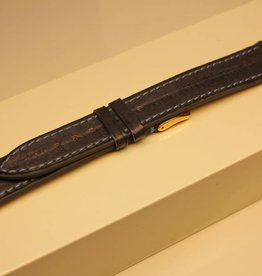 Handmade watch band eel leather greyblue lightblue stitchings 18/16mm