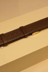 Handmade watch band madras leather dark khaki 18/16mm