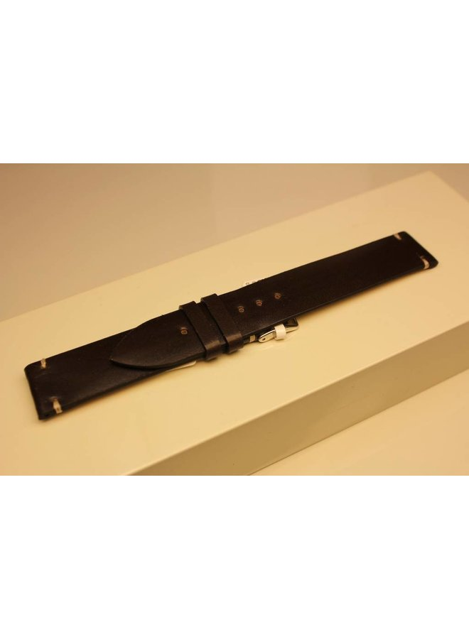 Handmade watch band cordovan leather dark brown 18/18mm