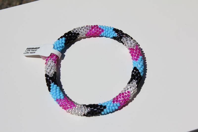 Loffs Loffs Nepal Bracelet silver-pink-blue-black