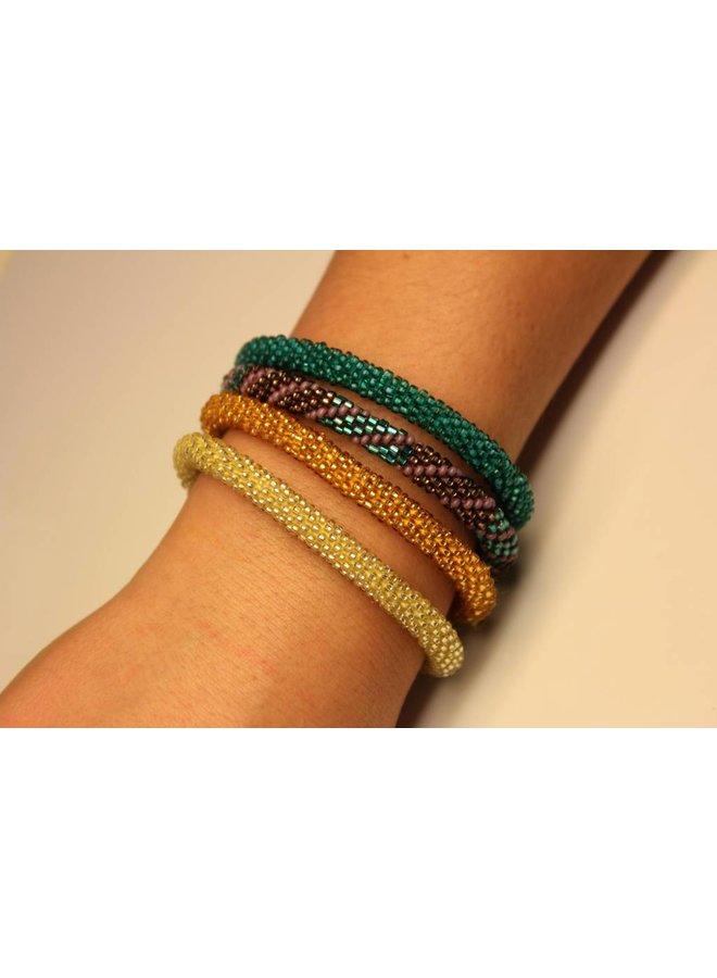 Loffs Nepal Bracelet metallic blue & purple